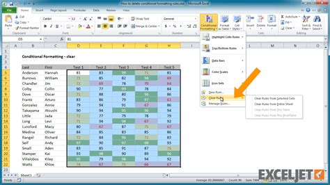Remove Table Formatting by Excel Tutorial How To Delete Conditional Formatting