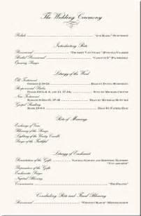 Wedding program examples wedding program wording wedding ceremony