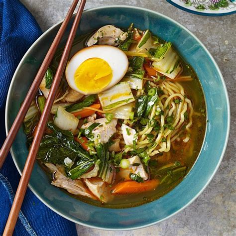 Chicken Ramen chicken ramen with bok choy soy eggs recipe eatingwell