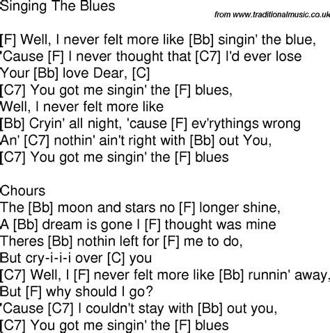 blues lyrics time song lyrics with guitar chords for singin the