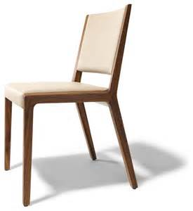 Contemporary Dining Chair Eviva Contemporary Walnut Chair Modern Dining Chairs By Wharfside