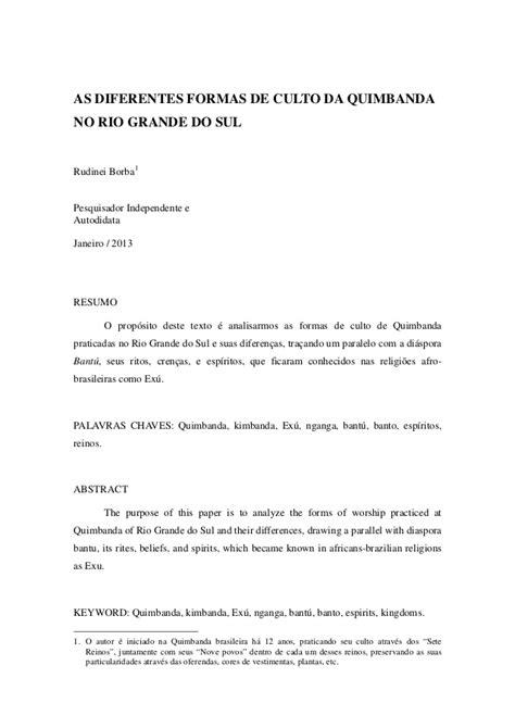 A quimbanda-no-rs