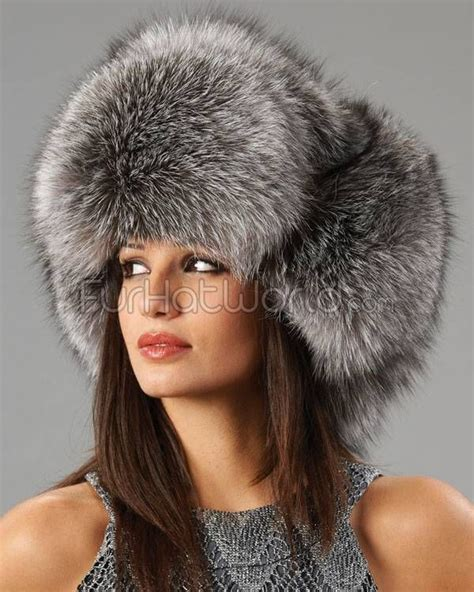 Russian Fur silver fox fur russian hat fur winter time