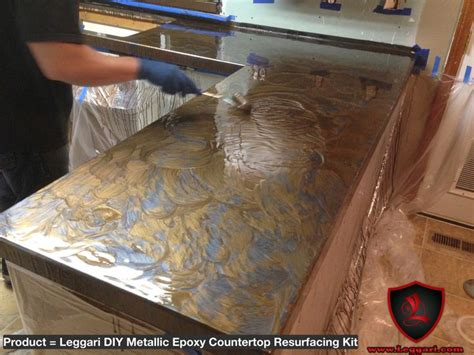 How To Make Resin Countertops by Diy Metallic Epoxy Countertop Resurfacing Kits Are