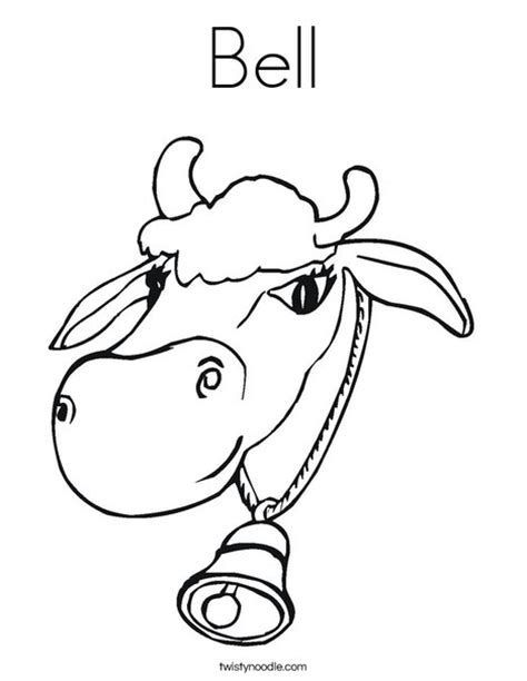cow bell coloring page bell coloring page twisty noodle