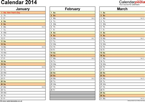weekly calendar template 2014 4 best images of printable 2014 monthly planner template