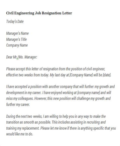 Resignation Letter Format Engineering College different types resignation letters engineering