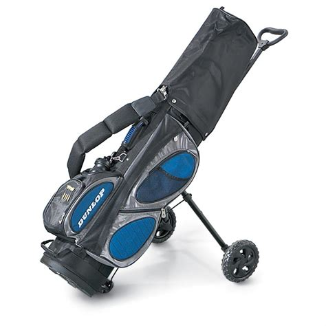 pulling cart dunlop 174 golf bag with built in pull cart 95359 golf at sportsman s guide