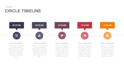 keynote show template circle timeline powerpoint and keynote template slidebazaar