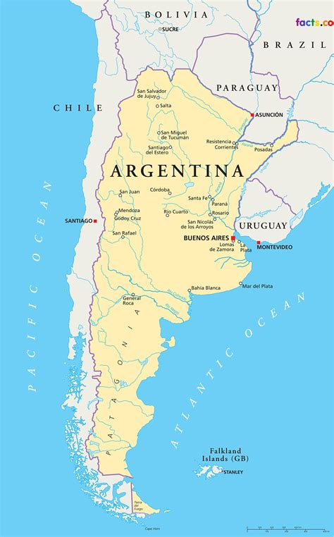 Argentina Records Argentina Map Blank Political Argentina Map With Cities