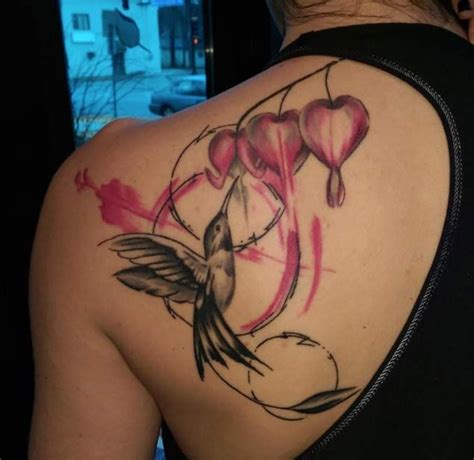 bleeding heart flower tattoo collection of 25 3d bleeding bottle on back shoulder