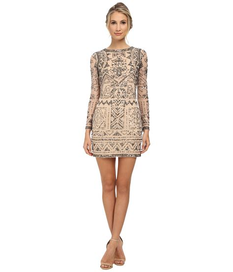 beaded papell dress papell sleeve beaded cocktail dress in