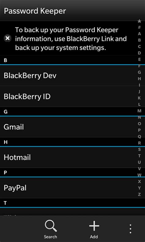 reset blackberry password keeper password keeper data backup only blackberry forums at