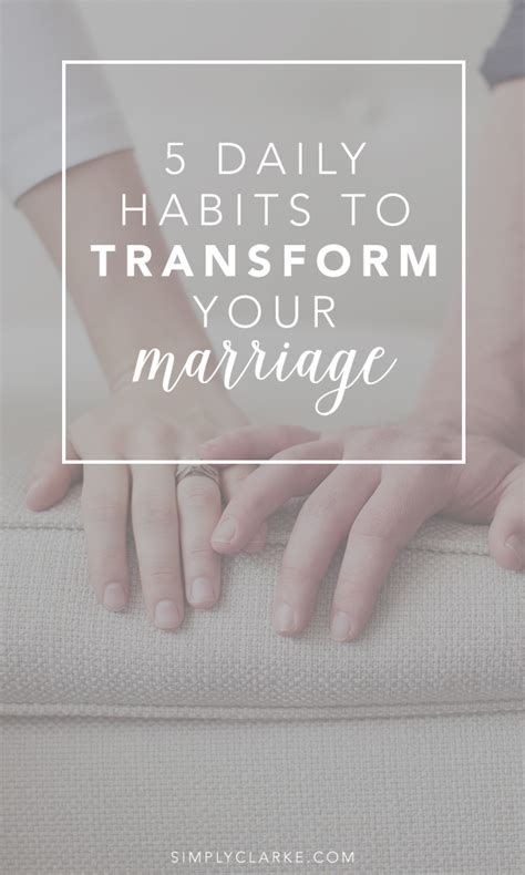 52 e mails to transform your marriage how to reignite intimacy and rebuild your relationship books 5 daily habits to transform your marriage simply clarke