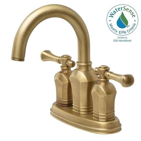 brass bathroom sink faucet pegasus verdanza 4 in centerset 2 handle bathroom faucet