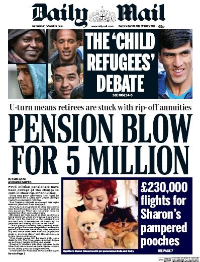 Daily Mail Uk Front Page For 28 October 2017 Paperboy daily mail uk front page for 19 october 2016 paperboy