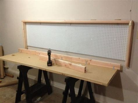 wall mounted folding work bench how to build a wall mounted folding workbench your