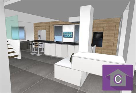 Ordinaire Modele De Cuisine Blanche #2: realisation-3D-cuisine-blanche.jpg