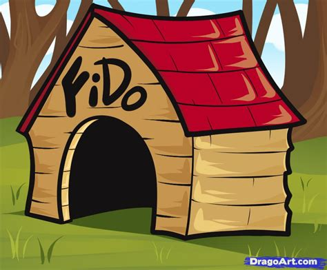 dog house sketch how to draw a dog house step by step buildings landmarks places free online