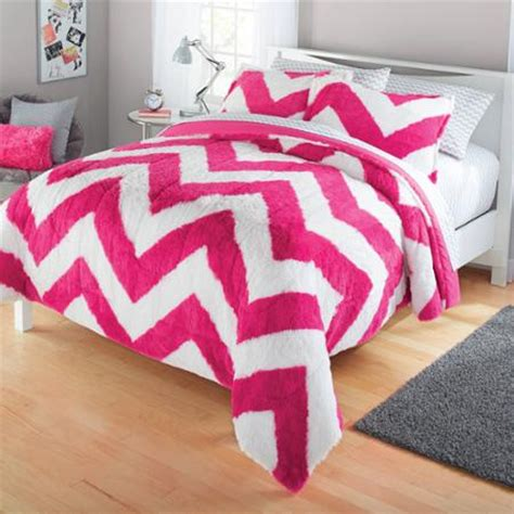 fur bed comforter your zone long fur bedding comforter set walmart com
