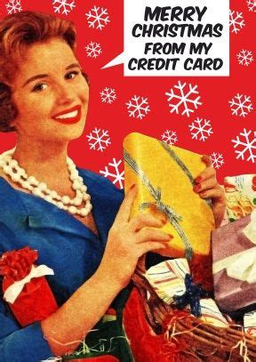 merry christmas   credit card funny christmas card anne taintor   sarcastic