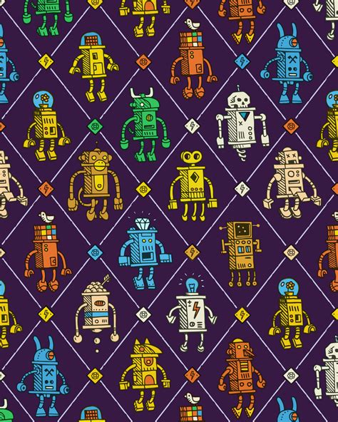 pattern paper montreal small robots on behance
