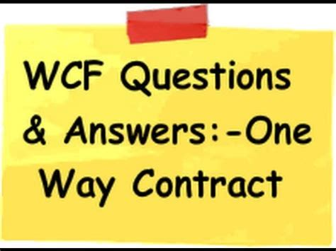 wcf tutorial interview questions wcf interview questions what are the 3 ways of