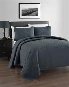charcoal gray coverlet zaria 3pc coverlet set charcoal grey quilted bedspread