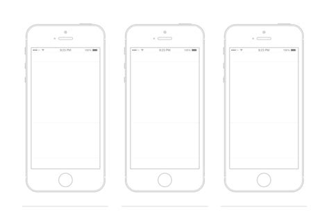iphone 5s template wireframe prototyping pinterest
