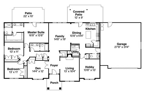floor plans images ranch house plans brennon 30 359 associated designs
