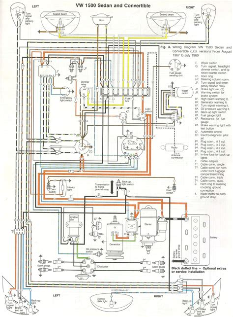 1968 69 beetle wiring diagram usa thegoldenbug