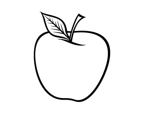 dibujo de libros y manzana para colorear dibujos net dibujo de manzana grande para colorear dibujos net