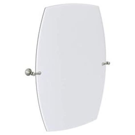 moen bathroom mirrors shop moen decorative 28 3 in w x 36 in h rectangular