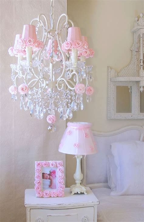 5 light chandelier with pink rose shades rosenberryrooms com