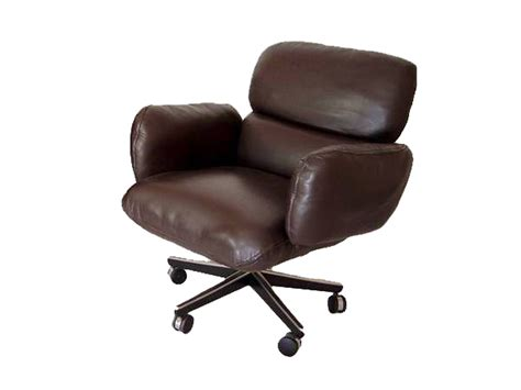 Knoll Office Chairs by 1 Zapf Knoll Brown Leather Low Back Side Office Chair Ebay