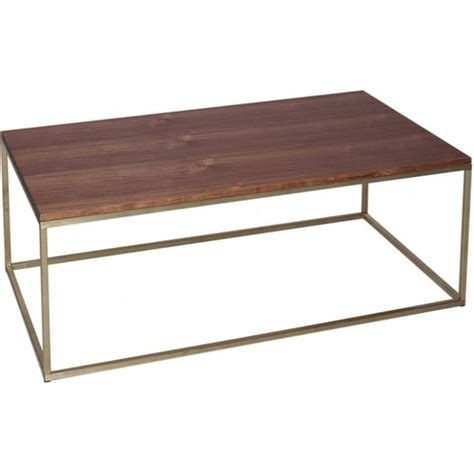 buy walnut and gold rectangular coffee table from fusion