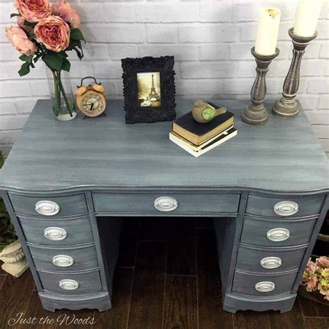 shabby chic desk shabby chic desk painted in layers of grays
