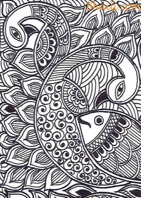 easy black and white madhubani paintings bhaili your