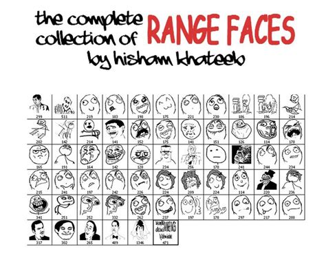Meme Cartoon Faces - nice memes range faces brushes set for all memes lovers
