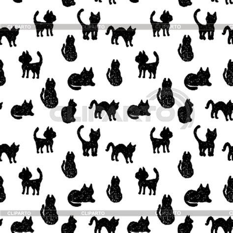 pattern black cat кошки силуэты фото большого размера и векторный клипарт