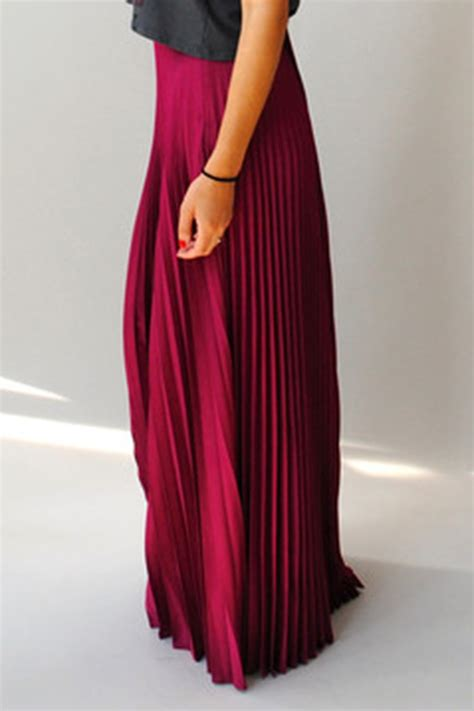 blaque label raspberry pleated maxi skirt from bucktown by