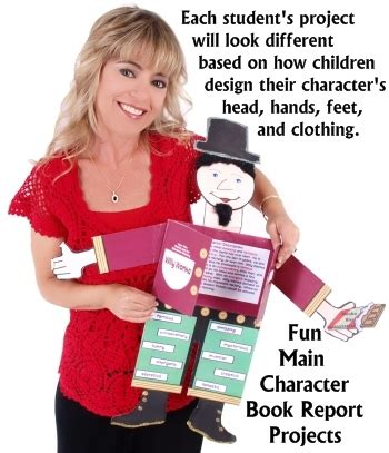 visual book report ideas character book report projects templates printable