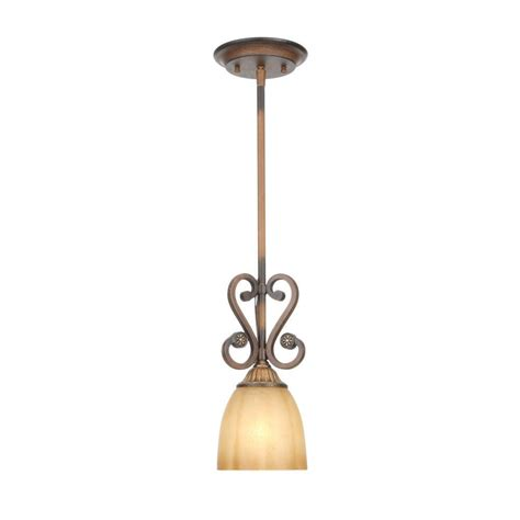 Hton Bay Lighting Fixtures Catalog Hton Bay Chateau 1 Light Walnut Mini Pendant 17021 The Home Depot