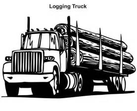 Logging Truck in Semi Truck Coloring Page   Download & Print Online