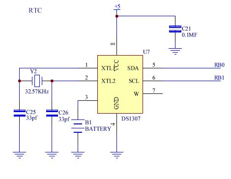 ds1307 circuit diagram ds1307 interfacing with pic18f4550 embedded laboratory