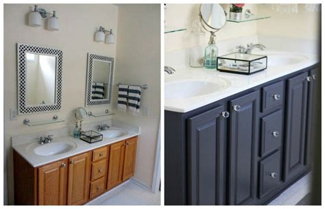 paint bathroom cabinets black oak bathroom cabinets painted black or dark gray with