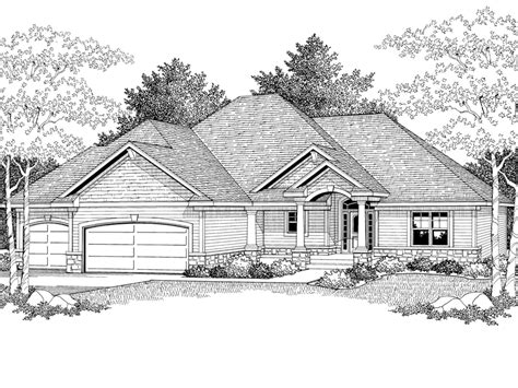 stone ranch with european flair hwbdo77256 ranch from victorino european home plan 051d 0353 house plans and more
