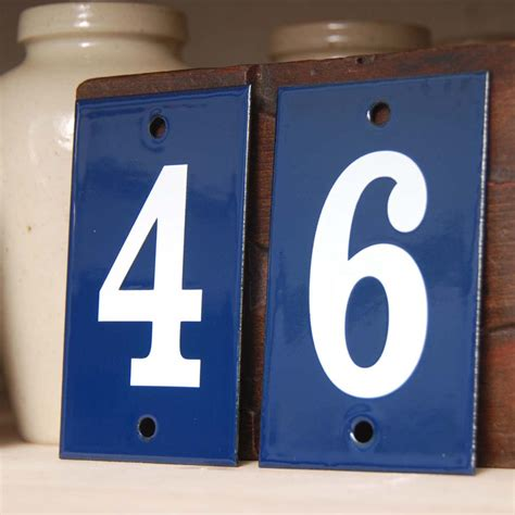 house number individual enamel house numbers 0 9