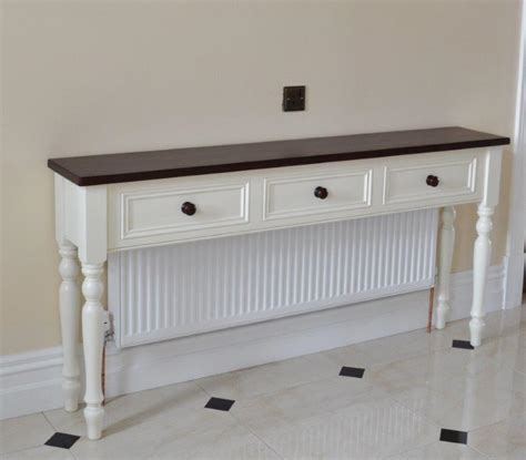 Bathroom Counter Storage Ideas deanery hall table radiator cover with dark stain pine top