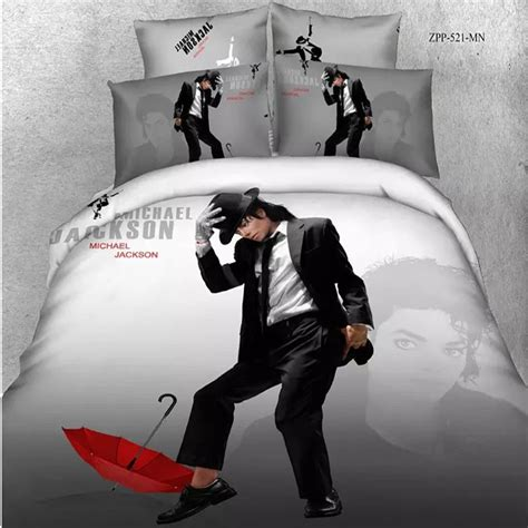 michael jackson dancing cotton duvet cover portrait